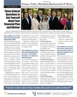 McGill Junge Wealth Management Iowa Financial Article thumbnail