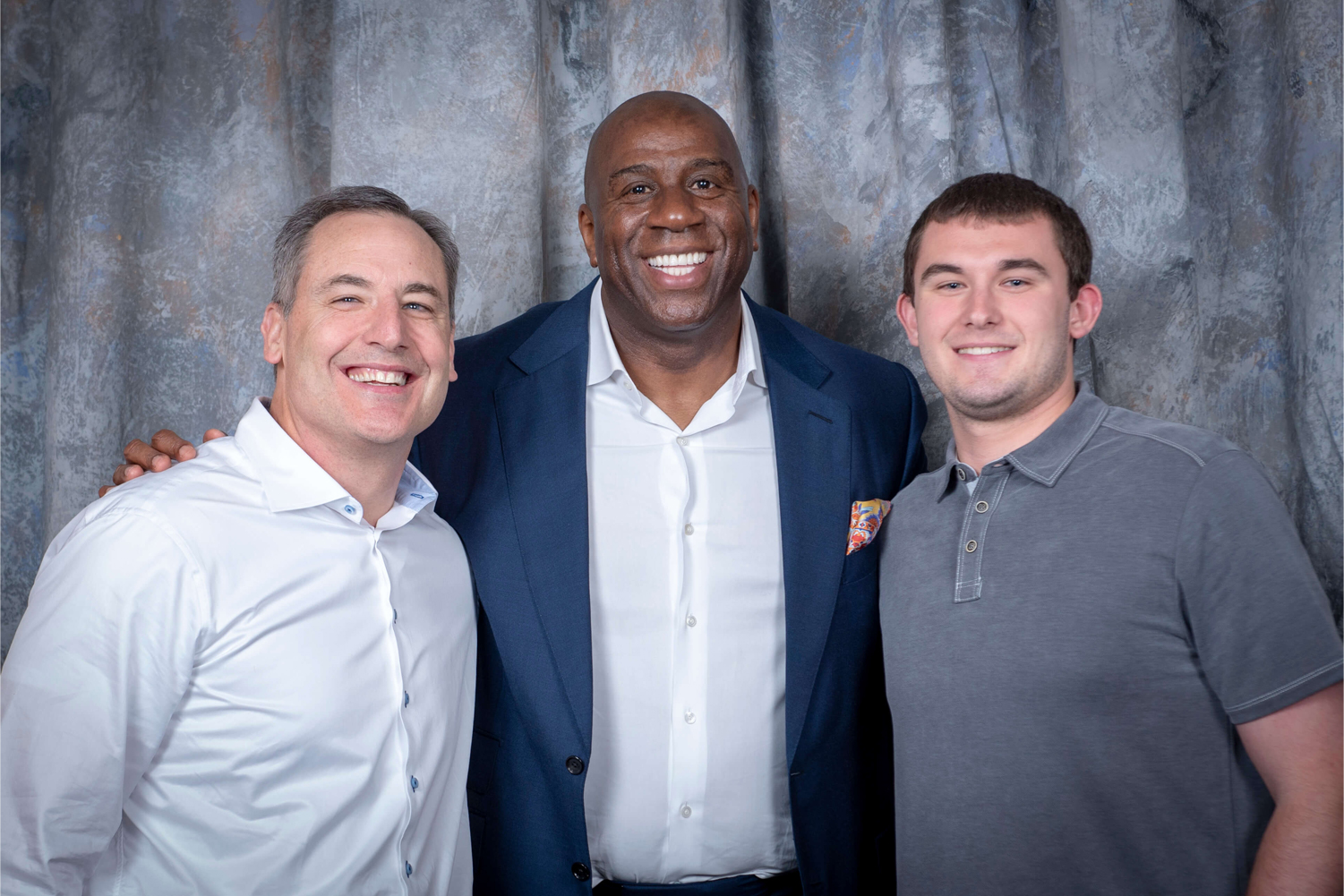 Group picture with Magic Johnson